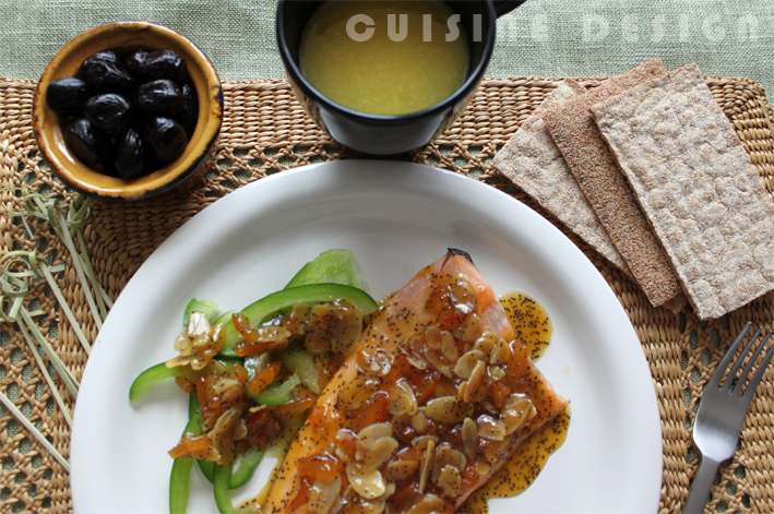 Grilled trout with sour orange jam sauce | Pinch of Cumin