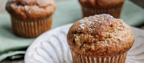 Banana and ginger muffins