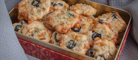 Parmesan, pinenut & olive cookies